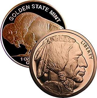 28.35 g .999 纯铜圆形/挑战硬币 Buffalo 镍