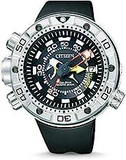 Citizen 西铁城 男士腕表 XL Promaster Marine 光动能驱动 Aqualand 指针式 石英机芯 橡胶表带 BN2021-03E