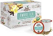 Super Organics Awake 黑茶胶囊,含*食物和* | Keurig K-Cup兼容 | 能量,活力,清爽茶 | USDA *认证,素食,非转*,天然和美味,72ct