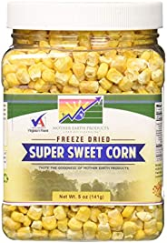 Mother Earth Products Freeze Dried Corn, Super Sweet, Quart Jar