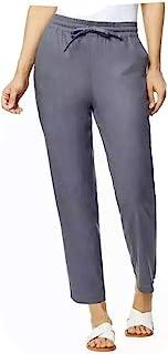32 DEGREES 女式弹力亚麻混纺长裤