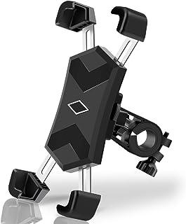 B-Land 自行车手机支架带不锈钢夹臂,摩托车手机支架 - 自行车车把,通用自行车手机支架兼容 iPhone 11,XR,8 | 8 Plus | Galaxy S10,S9