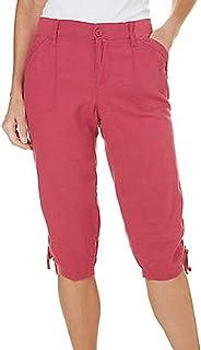 Gloria Vanderbilt Capri 女士工装裤,带口袋蔓越莓色