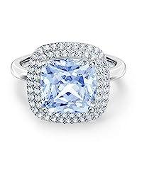 施华洛世奇天使戒指蓝色镀铑 - 戒指尺寸 8