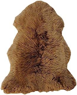 RÖKÜ/OTTO 装饰毛皮,羊皮,棕色Brisa,110 x 67厘米,5件