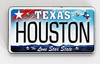 Houston Texas 牌照木质冰箱贴 7.62 cm x 3.81 cm