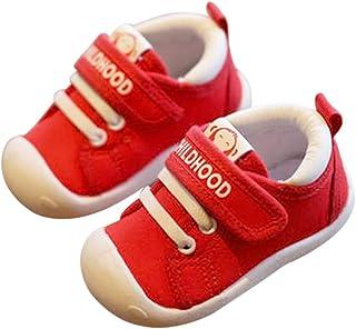 DEBAIJIA 宝宝*步行鞋 1 – 4岁儿童鞋 训练 幼儿 男童 女孩 软底 防滑棉 帆布 网眼 透气轻质 TPR 材质 一脚蹬运动鞋 户外