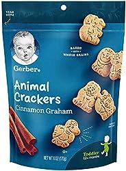 Gerber嘉宝Graduates动物饼干 黄棕色面粉制作 6 盎司(170.09克) (4 包)