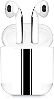 kwmobile Apple AirPods 贴纸套装 - 7X Apple 耳机贴纸粘性贴花皮肤 - 多色/深粉色/黑色44530.12_m000706