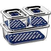 WMF 福騰寶 Top Serve 0654249999 儲物容器3件套,帶排水格柵
