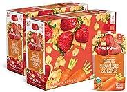 Happy Baby 禧贝 透明装婴儿食品2段 胡萝卜,草莓&鹰嘴豆泥,4盎司(113克)袋,共