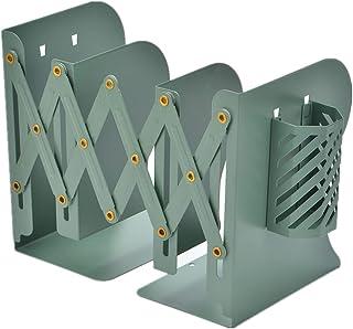 Citmage 可调节书签 3 个隔层装饰金属书架重型可扩展书架收纳盒杂志文件书架适用于桌子、架子、办公室、文具礼品(*)