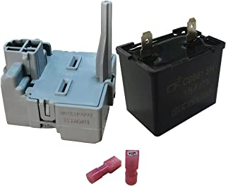 WP2319792 TSD2 压缩机启动继电器 & W10662129 压缩机运行电容器 兼容惠而浦 冰箱 - 替换 241941003 2255198 PS11740412 241527803, W10197428