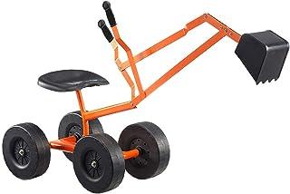 Albott Ride On Sand 挖掘机,带 360° 旋转座椅,户外儿童玩具,带轮子的工作起重机,沙箱挖掘机