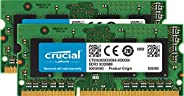 Crucial 16GB Kit (8GBx2) DDR3-1600 MT/s (PC3-12800) 204-Pin SODIMM Notebook Memory CT2KIT102464BF160B / CT2CP1