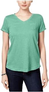 Style & Co. 小号 V 领口袋 T 恤甜美薄荷绿 PP