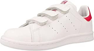 adidas Originals kids 阿迪达斯三叶草 ORIGINALS KIDS 女童 休闲运动鞋STAN SMITH CF C B32706 白/白/醒目粉 内长:200mm (UK 1)