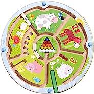 HABA 数字迷宫磁性游戏,STEM玩具,可鼓励发展颜色识别,精细运动和计数能力
