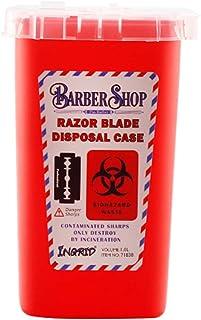 Solustre Sharps 容器针处置盒生化危害容器带翻盖,用于*器刀片顶部纹身处理套件
