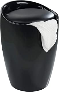 Wenko 浴室凳糖果黑色洗衣收集器,36 x 36 x 50.5 厘米