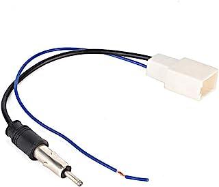 Hlyjoon ABS 车载 CD 收音机天线适配器母电缆带放大器天线适配器电缆适配器天线无线电放大器电缆适用于 Crown Prado Vios RAV4 FJ CRUISER Levin Highlander