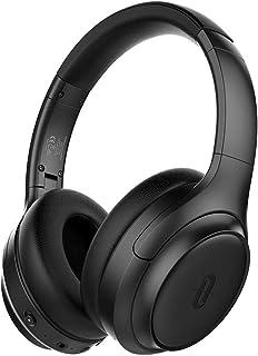 TaoTronics 主动降噪耳机 [2019 *] 蓝牙耳机 SoundSurge 60 头戴式耳机 声音深沉 快速充电,30 小时播放时间适合旅行工作电视 PC 手机