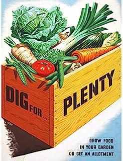 Le Bon Dig Plenty Vegetables UK WWII 食品广告无框墙艺打印海报家居装饰高级