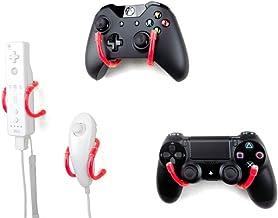 壁夹 - Xbox One,PS4,任天堂开关和复古游戏控制器管理整理器 - 4 件装,红色