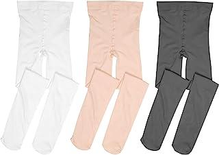 MdnMd 2/3 双装芭蕾舞紧身裤超柔软舞蹈连脚紧身裤,适合幼儿/女孩/女士/成人