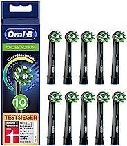 Oral-B 欧乐B CrossAction 黑色版插入式刷头,带清洁最大化器刷毛,彻底清洁口腔,10件
