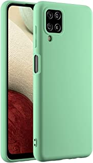 Cresee 兼容三星 Galaxy A12 手机壳,超薄硅胶保护套,带超细纤维内饰防刮超薄贴合灵活手机壳 - *