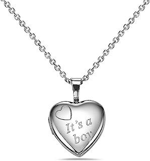 "Pori Jewelers 925 纯银钻石切割心形项链 18"" 钻石切割"