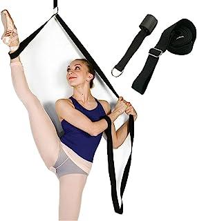 U/C 腿部拉伸器,可调节腿部拉伸器长度芭蕾拉伸带门灵活拉伸腿带训练器适用于舞蹈综合格斗跆拳道啦队体操