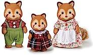Calico Critters 印花布小熊猫家庭玩偶,娃娃屋,收藏玩具