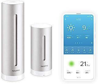 Netatmo 气象站,室内室外,带无线室外传感器-兼容Amazon Alexa和Apple HomeKit,NWS01-EU