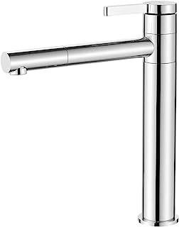 IBERGRIF M11299 单杆水龙头,适用于浴室,高洗面盆龙头,铬,银色