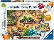 Ravensburger 睿思 tiptoi 00051 - 小探险家拼图:动物园 - 2 x 12 片,多色