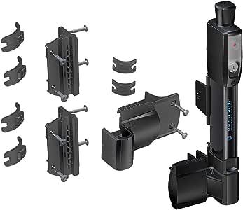 D&D Technologies ML3TPKA MagnaLatch 顶部拉杆泳池和儿童*磁门闩锁和锁 黑色 12 7/16 Inch w/ Round Post Adapter Kit