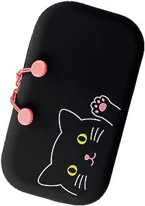 LIHIT LAB. SMART FIT PuniLabo 拉链收纳袋 A-7716-3 黑猫