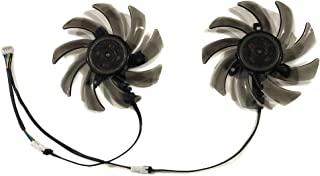 显卡风扇 PLD09210S12HH 视频风扇 适用于 PNY GTX1070Ti GTX 1080 1060 XLR8 游戏 OC GPU 卡散热(1 套 90MM 直径 39.5mmX39.5mmX39.5mm 安装螺距风扇)