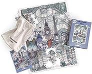 印刷俱乐部伦敦 x 幸运队伦敦巴黎布鲁塞尔拼图 500 片 - 成人*拼图 - 城市风景拼图 - 艺术家版拼图,Lucille Clerc