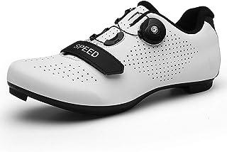 自行车鞋女式公路骑行室内 SPD/SPD-SL 兼容 MTB 快速锁定纺车轮防滑三角自行车锻炼透气稳定舒适骑手鞋*骑行