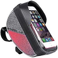 Cyrusher 自行车手机包前框架包顶管,带防水 TPU 触摸屏,适用于 IPhone 8 6s plus/三星 Ga…