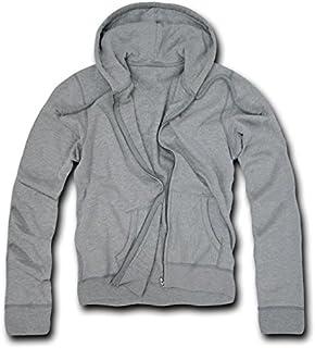 DECKY Heather Grey Classic fit full zip hoodie