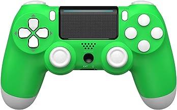 MOVONE 无线控制器适用于 PS4/Slim/Pro 控制台,带双振动/立体声耳机插孔/触摸垫/六轴运动控制(*)