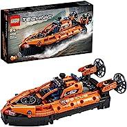 LEGO 乐高 42120 Technic Rescue 气垫船飞机变形玩具,2合1模型,适合8岁以上男孩和女孩