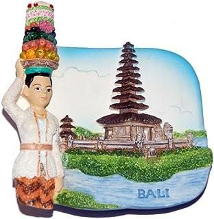Ulun Danu Bratan Temple Bali 印尼,高品质树脂 3D 冰箱贴