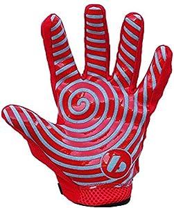 Barnett FRG-02 适合接收方足球手套,RE,DB,RB 红色