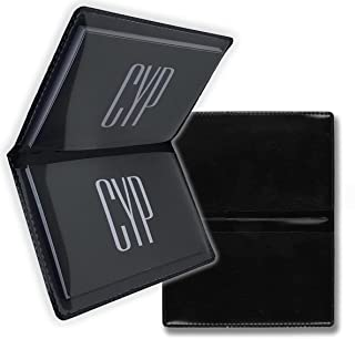CYP - 名片夹 - 2.5 英寸 x 4 英寸(约 6.4 厘米 x 10.2 厘米) - 驾照 - 信用卡 - 地铁通行证 - 身份证夹 - 10 包