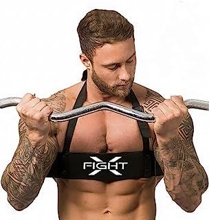 FightX Arm Blaster 男士举重设备 二头肌训练设备 完美卷发二头肌和三头肌 辅助支撑举重配件 适用于男士锻炼装备 手臂杠铃二头肌卷发棒